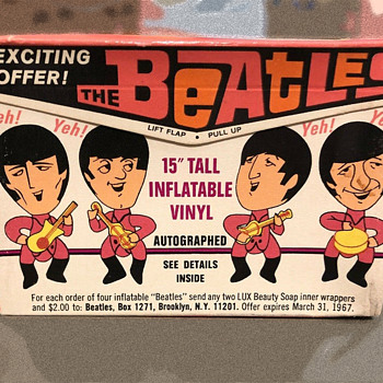 Beatles LUX Soap Box SEALED with Inflatable Offer Enclosed - Music Memorabilia