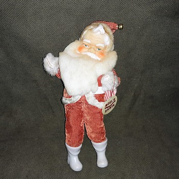 "Trim-A-Tree Noel Decorations Inc. 10"" Santa With Bag Circa 1960 - Christmas"