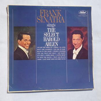 Ultra Rare Frank Sinatra sings the Select Harold Arlen LP - Records