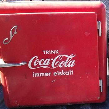 German mini coca cola fridge - Coca-Cola