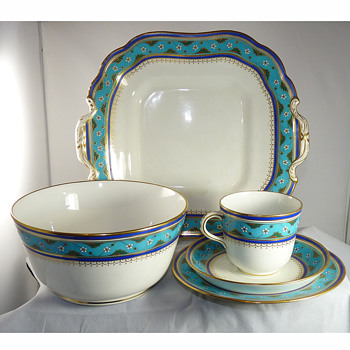 "Christopher Dresser ""Cloisonne Ware"" Porcelain Tea & Coffee Set for Minton, circa 1867"
