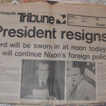 Nixon Resigns - Paper