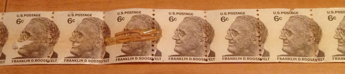 FDR 6 Cent Stamp Horizontal Coil Roll