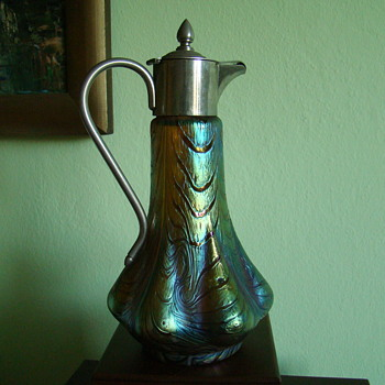 Bohemian  Art Nouveau Cruet - Art Glass