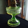 "Adams & Company, Pittsburgh, Pa -VALENCIA WAFFLE ""Block and Star"" VASELINE LAMP"