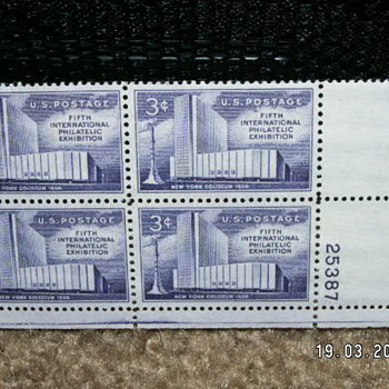 1958 New York Coliseum 3¢ Stamps