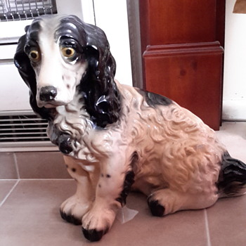 My favourite spaniel, he was my first chalk dog. - Animals