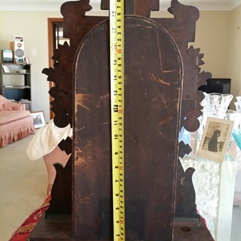 Wooden pendulum mantel clock no label