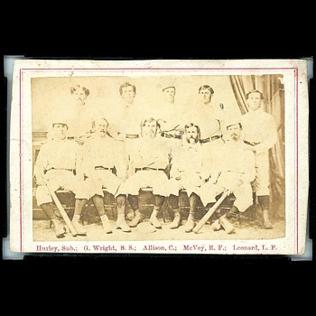 "Peck & Snyder Baseball CdV Card - The First ""True"" Baseball Card. Published 1869. - Baseball"