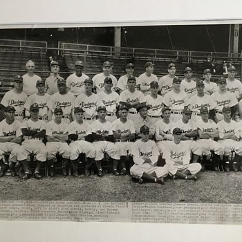 1947 Brooklyn Dodgers Team Press Photo 1947 Jackie Robinson - Baseball