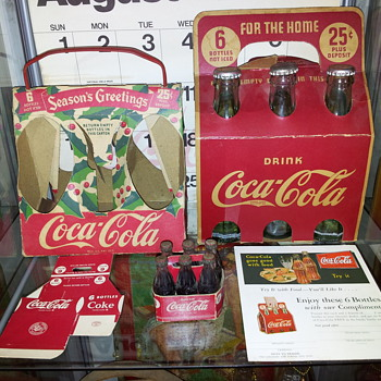30's Christmas Carrier & 40's Wood Carrier - Coca-Cola