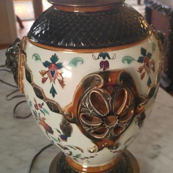 Hand painted ceramic lamp  - Lamps