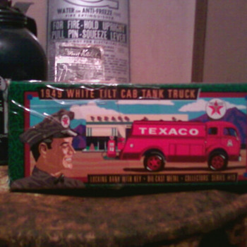 Texaco toy truck in original box