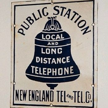 New England Tel. Public Station Sign