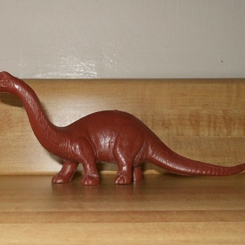 Marx Waxy Brown Brontosaurus Early 1970s - Animals