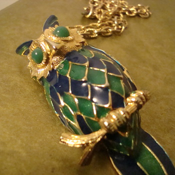 Chunky owl necklace