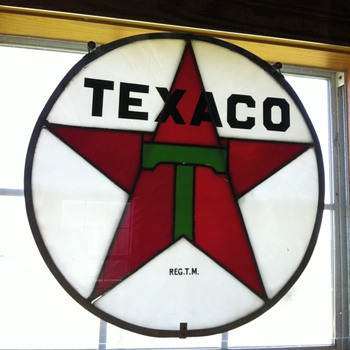 Texaco stained glass  - Petroliana