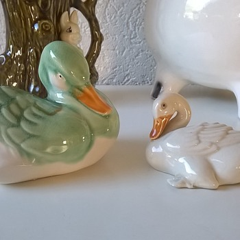 Kitschy Old Ducks, Made In China - 1950s?  - Pottery