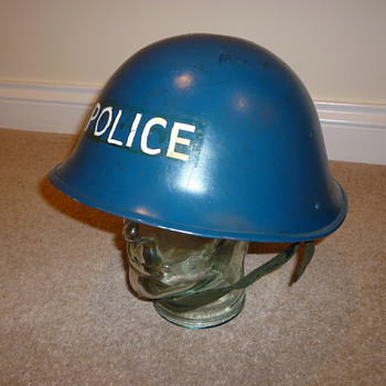 1950's - 1980's British Police steel helmet - Military and Wartime