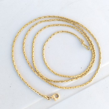 18K/750 Italian Gold Rope Necklace, Thrift Shop Find, For One Euro - Fine Jewelry