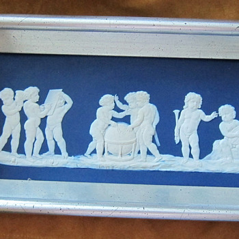 Framed Wedgwood Blue & White Jasperware Plaque