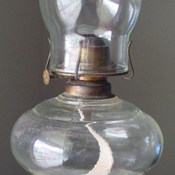 Clear Glass Oil Lamp ~ Unidentified - Lamps