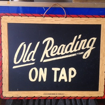 Old Reading On Tap Beer Sign