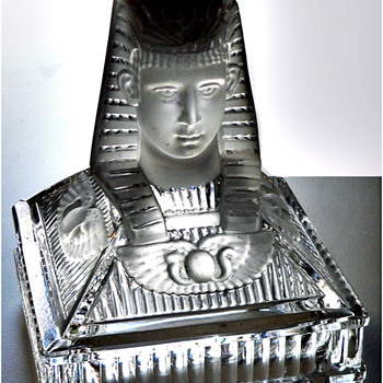 Egyptian Revival candle holder - Glassware