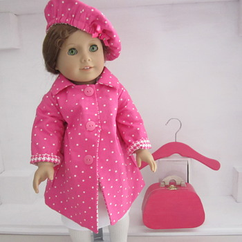 Handmade American Girl Doll Coat and Hat by Kim - Dolls