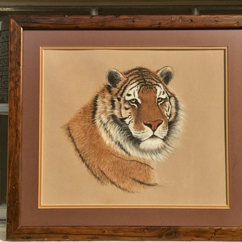 1970's (1978) Bengal Tiger Signed Print Need Help With Name & Type of Print - Animals