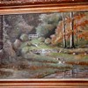 "Unusual Double Sided Oil Painting On Panel/ 16"" x 24"" With Gilt Frame/Signed ""Edmund (E.J.) O'Brien""/Circa 20th Century"