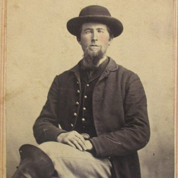 Civil War Solider possible glass eye?? - Photographs