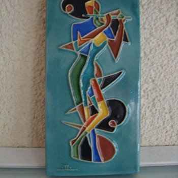 mid century modern tile jac lovades 50s - Pottery