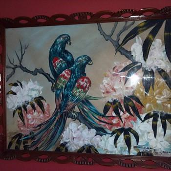Zara Ellwood Parrots - Fine Art