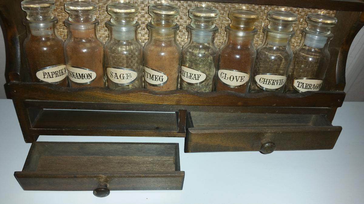 Vintage Wooden Spice Rack Collectors Weekly