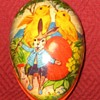 Small Vintage German Made Papier-Mâché Easter Egg Candy Container