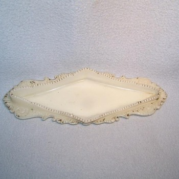 Victorian Milk Glass Pen Tray - Glassware