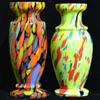 Czech spatter vases