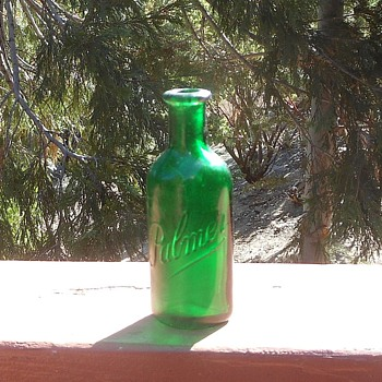 Palmer Cologne Green Bottle 1890s - Bottles