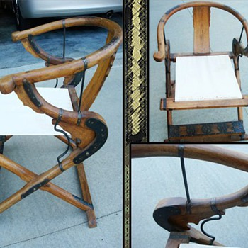 Antique Chinese Folding Chairs - Asian