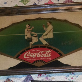Coke Cloth fan - Coca-Cola
