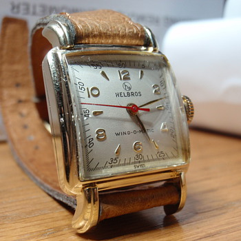 1955 Helbros Wind-omatic 10K gold filled  - Wristwatches