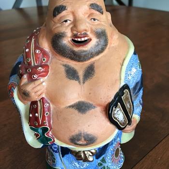 Japanese 1950's Kutani Porcelain Buddha