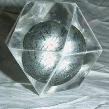 Vintage Small Moon Globe Paperweight  - Office