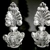 "Pair of 7"" Imperial or U.S. Glass for Irice Fan Perfume Bottles/Circa 1930-40"
