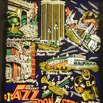 New Orleans felt scroll artwork by Dottie