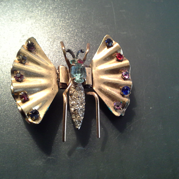 Old butterfly pin found in my Mom's jewelry - Costume Jewelry
