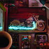 Picture Of Harley Davidson Pan Head...Neon Exhaust