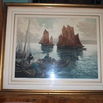 Vintage / Antique Maritime Art Work - Fine Art