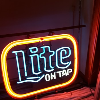 Miller Lite On Tap Neon Sign - Breweriana